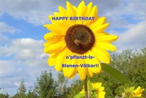 1. Garten-Bienen-Geburtstag